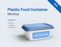 Free Plastic Food Container Mockup