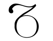 Typography. Font design 'Plum'