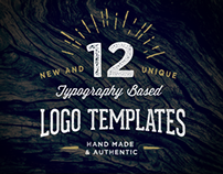 12 Typography Based Logo Templates