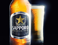 Sapporo Beer with Glass