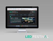 LED FESTIVAL 2014 - Web Design Concept