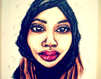 Illustration of British-Somali poet Warsan Shire