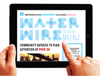 Metropolitan Waterfront Alliance Newsletter Redesign