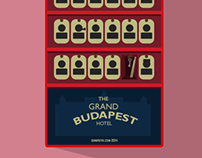 The Grand Budapest Hotel, mini flat poster.