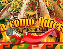 Butacos Comida Mexicana, Lanzamiento