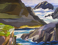 Point Lobos Watercolor