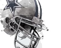 Dallas Cowboys Watercolor Brush Experiment