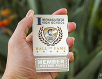 Metal Lifetime Membership Pass