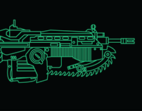 Classic Weapon Line Art