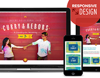 Curry & Kebobs - A responsive wedding site