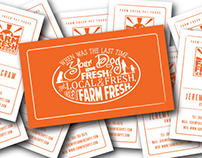 Farm Fresh Pet Foods Cards