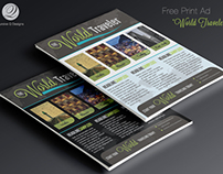 Free Print Ad Template PSD - World Traveler
