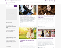 Left Sidebar Masonry Blog - Salon WordPress Theme