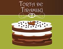 Infografía Torta de Tiramisú