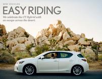 Easy Riding: Lexus CT Hybrid Road Trip