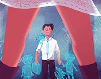 Illustration for short story - Santiago en 100 palabras