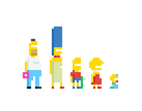 The Simpsons Pixel Design