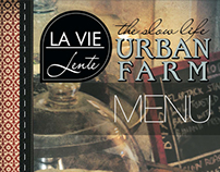 Graphic & Web Design: La Vie Lente Restaurant