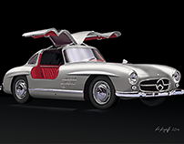 Mercedes-Benz 300 SL - Drawing