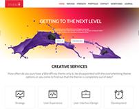 Studio9 - One Page WordPress Theme