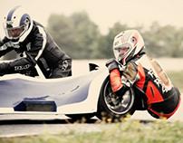 crazy side car racing