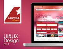 Nordwind Airlines, UI Design, 2013