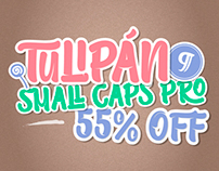 Tulipán Broken Caps PRO - Available on Myfonts 55% off