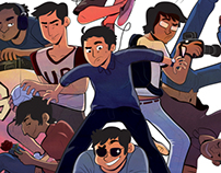 The G-Boys - Team Illustration