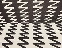 Alphabet print - zigzag