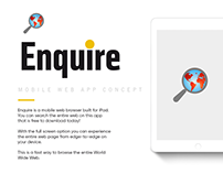 Enquire - Web Browsing App for iPad