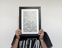 Calligraphy Skull