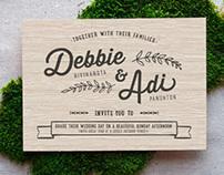 Debbie & Adi Wedding Invitation