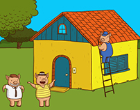 Three Little Pigs e-book illustration
