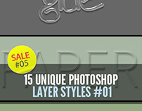 Sale#05: 15 Unique Photoshop Layer Styles #01