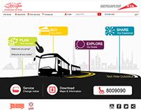Dubai Road and Transport Bus Design Template
