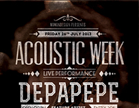 Acoustic Typography Flyer/Poster