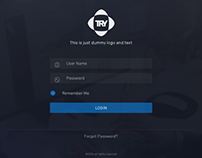 Login screen for web/iOS app