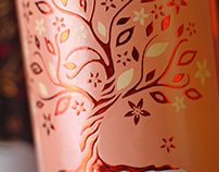 Wine label design / Дизайн этикетки для вина