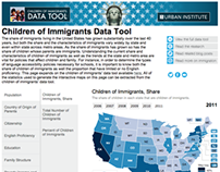 Children of Immigrants interactive data tool