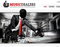 Music Dealers – Website concept