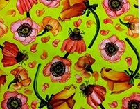 Floral Textile Design Dyes