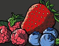 Sabores frutales para Etiquetas