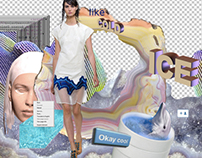 Fashion collage for Condé Nast.