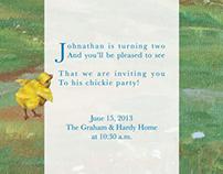Invitation - Child's Chick-Themed Birthday Party