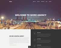 MORE - Creative One Page Wordpress Theme