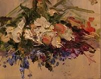 Deer Skull + Antler + Flowers