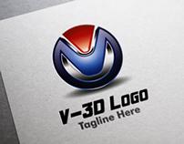V - 3D Logo