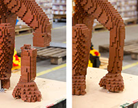 LEGO sculptures maintenance