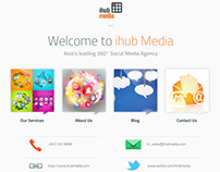 ihub media Korea CMS Site (Design+HTML)