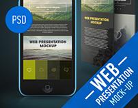 WEB Presentation Mock-Up (PSD)